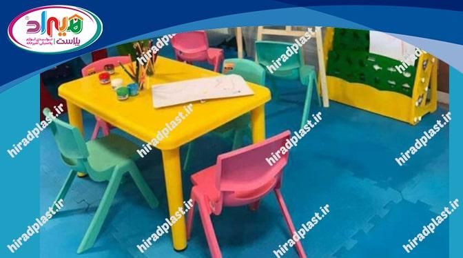 میز صندلی پلاستیکی کودک