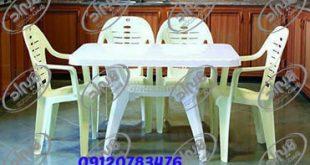 میز پلاستیکی سفید